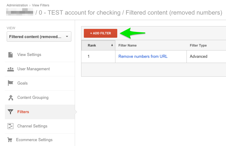 Kreiranje novog filtera u Google Analitici
